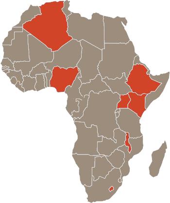 Map TEA-LP countries