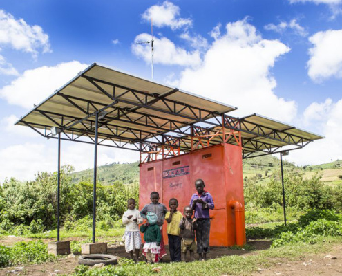 Microgrid solar batteries africa
