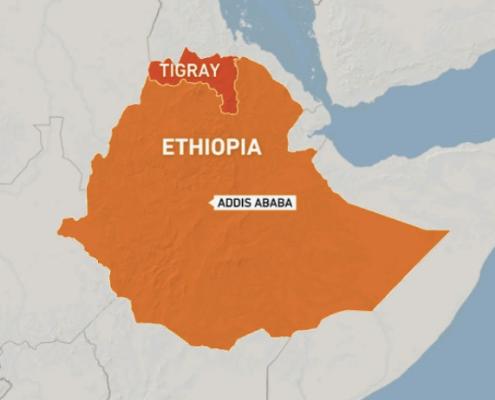 Ethiopia Tigray Map